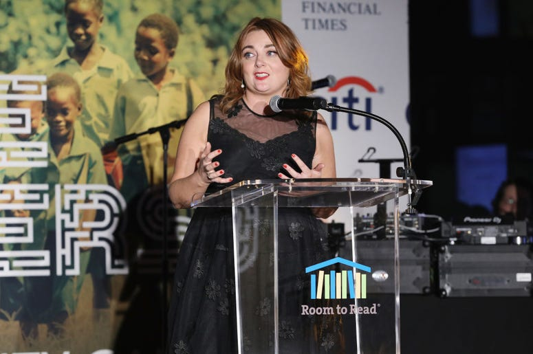 Honoree Editor-in-Chief of Glamour Samantha Barry speaks onstage during the 2018 Room to Read New York Gala on May 17, 2018 at SECOND in New York City.