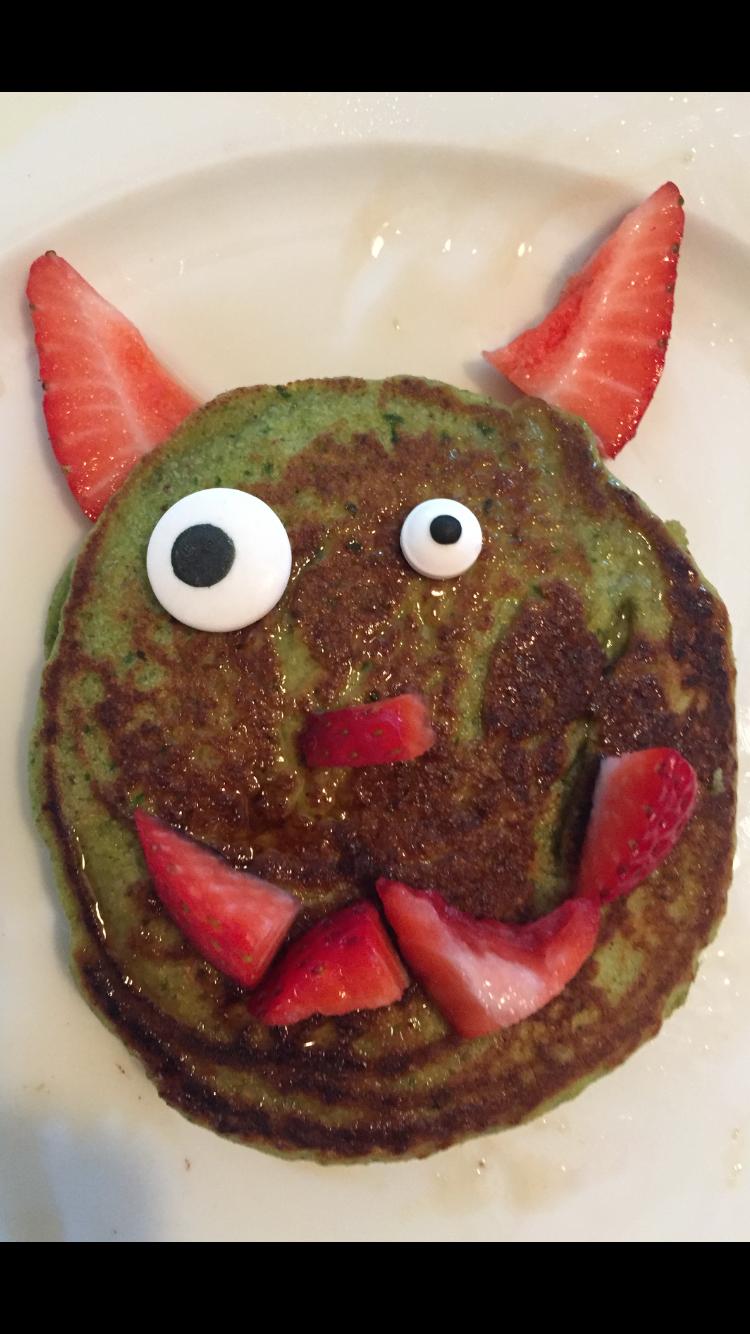 Green Monster Pancakes
