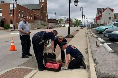 St. Charles Fire Department duck rescue