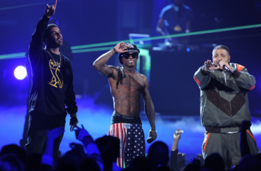 Drake, Lil Wayne, and DJ Khaled perform onstage during the BET Awards '11