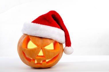 Pumpkin Santa Hat