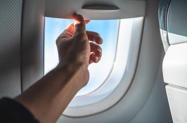 plane window shade