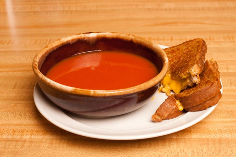 grilled cheese and tomato soup lays