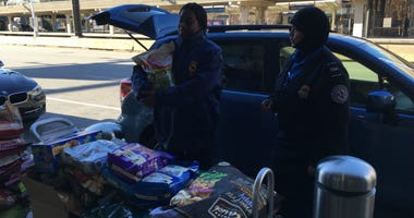 Donated food has been available for TSA workers during the government shutdown.  But a Chester Springs nonprofit was at the airport Tuesday, delivering donated food for the workers' pets.