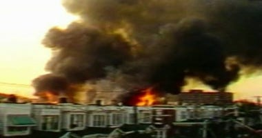 MOVE compound bombing on May 13, 1985 in West Philadelphia.