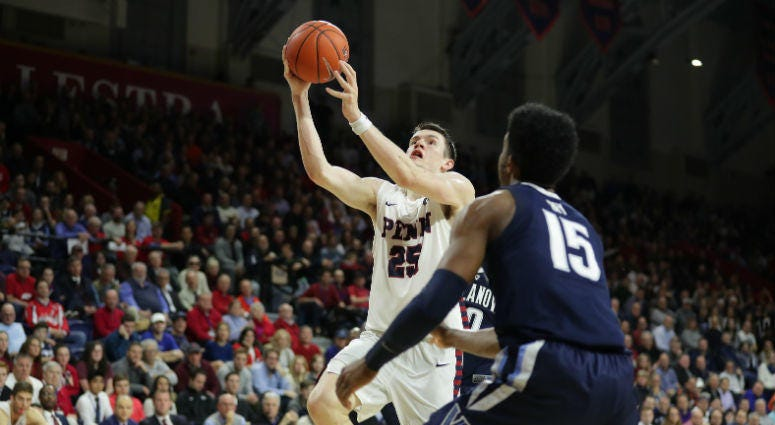 Penn senior AJ Brodeur leads the Quakers in scoring, rebounding, assists and blocks.