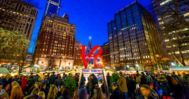 The Christmas Village is returning to Love Park in Philadelphia.