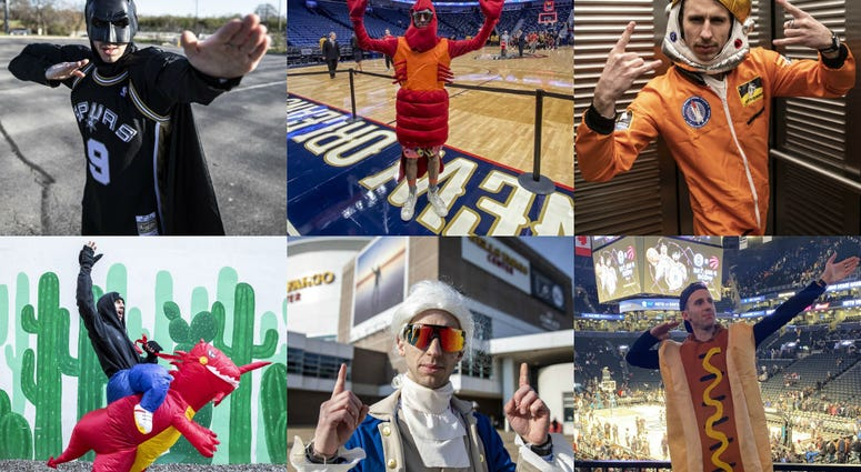 Basketball fan David Delooper went to 30 NBA games in 30 days and get on the JumboTron 30 times.