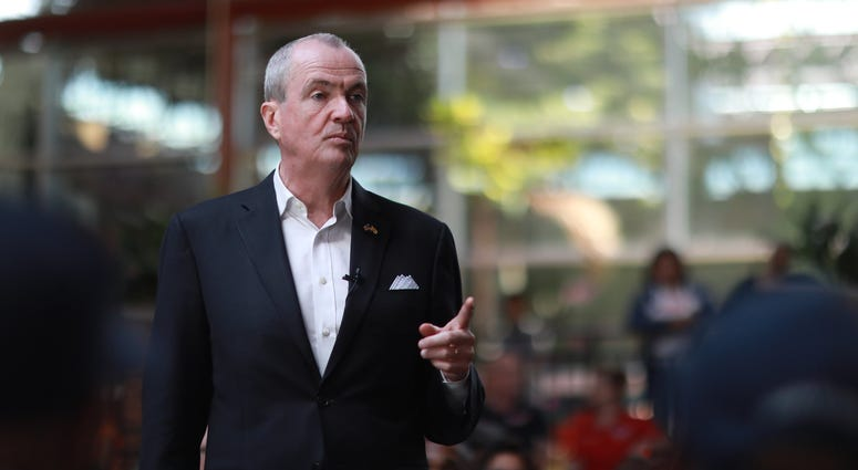 Gov. Phil Murphy holds a Public Union Budget briefing at Union County Community College in Cranford on Saturday, May 18, 2019.