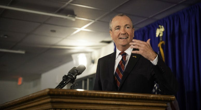 Governor Phil Murphy hosts a press conference to discuss the budget on Monday, June 18, 2018.