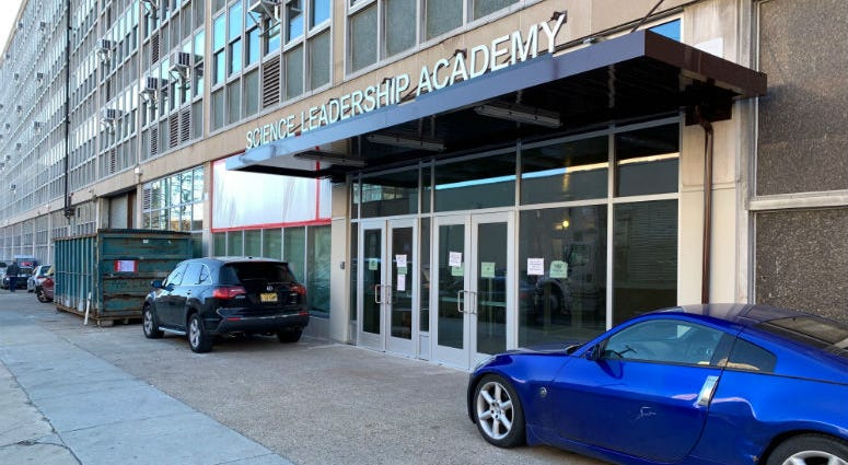 Ben Franklin High School and Science Leadership Academy school building.