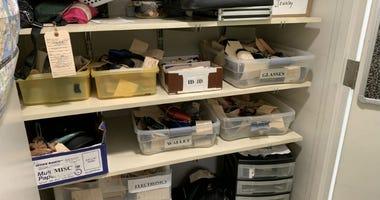 SEPTA lost and found closets at Suburban Station, Philadelphia.