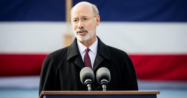 Gov. Tom Wolf speaks at his 2019 inauguration.