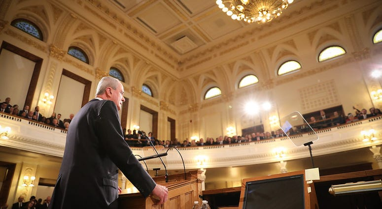 Governor Phil Murphy delivers his second State of the State address in Trenton on January 14, 2020.