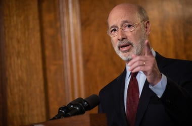 Governor Tom Wolf speaks about efforts to raise Pennsylvania's minimum wage.