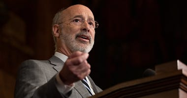 Governor Tom Wolf speaks during a press conference, during which Governor Wolf proposed 2020-21 budget items totaling more than $1.1 billion to support reducing the risks to Pennsylvanians of lead and asbestos.