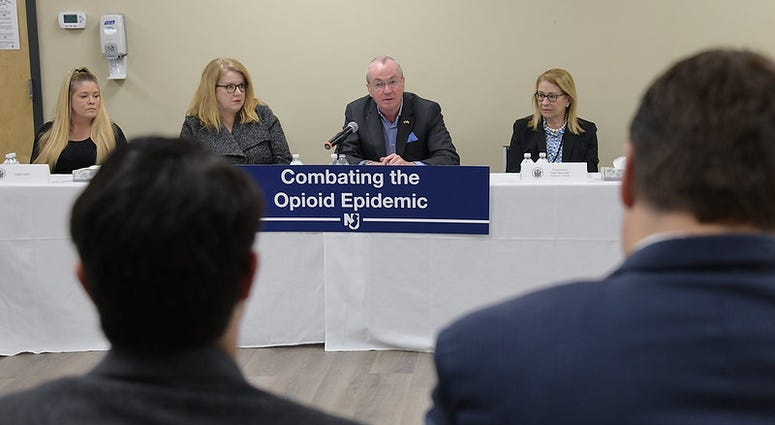 Governor Phil Murphy holds a roundtable discussion on combating the opioid epidemic at Ocean Mental Health Services in Bayville, New Jersey.