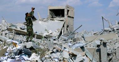 Syria Strike (AP PHOTO)