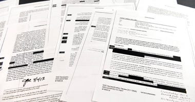 Copies of the memos written by former FBI Director James Comey.