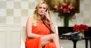 """Stormy Daniels during an appearance on """"Saturday Night Live."""""""