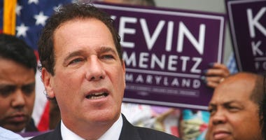 In this file photo, Baltimore County Executive Kevin Kamenetz announces he is joining the race for governor in Towson, Md.