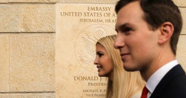 U.S. President Donald Trump's daughter Ivanka, left, and White House senior adviser Jared Kushner attends the opening ceremony of the new U.S. Embassy in Jerusalem.