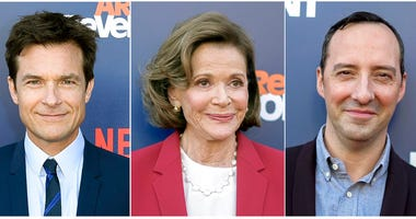 "From left: Jason Bateman, Jessica Walter and Tony Hale at the ""Arrested Development"" season five premiere."