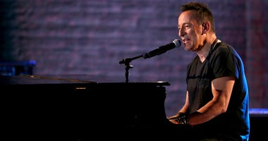 Bruce Springsteen performs at the 72nd annual Tony Awards at Radio City Music Hall.