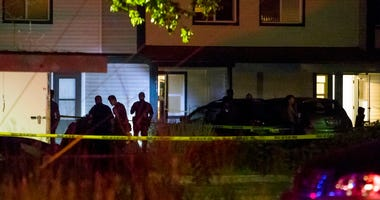 Boise police investigate at a crime scene near the corner of State and Wyle Streets in Boise just before 11 p.m. Saturday, June 30, 2018.