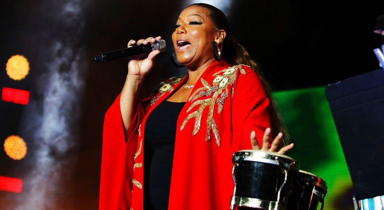 Queen Latifah performs at the 2018 Essence Festival at the Mercedes-Benz Superdome on Saturday, July 7, 2018, in New Orleans.
