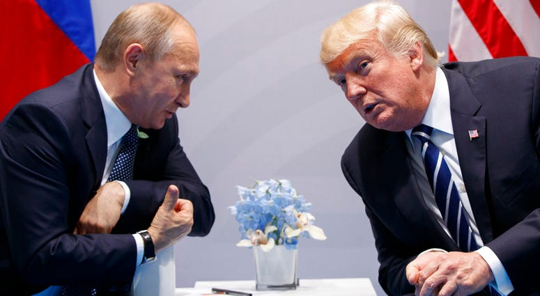 President Donald Trump meets with Russian President Vladimir Putin at the G-20 Summit in Hamburg. Both leader will meet for summit on Monday, July 16, 2018 in Helsinki, Finland.