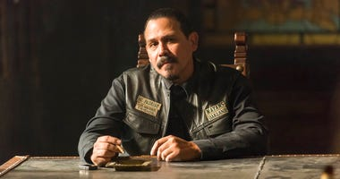 "This image released by FX shows Emilio Rivera as Marcus Alvarez in a scene from ""Mayans M.C.,"" premiering on Sept. 4."