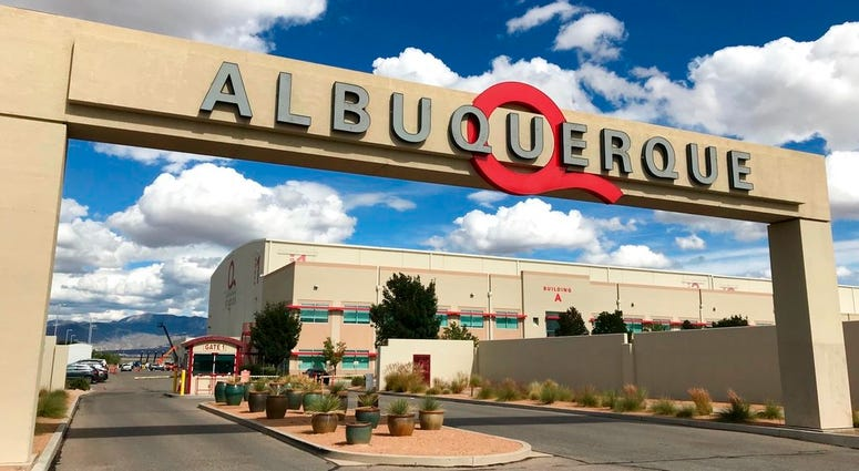 This Oct. 8, 2018 image shows the entrance to ABQ Studios in Albuquerque, N.M., on Monday, Oct. 8, 2018.