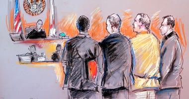 Cesar Sayoc appears in court.