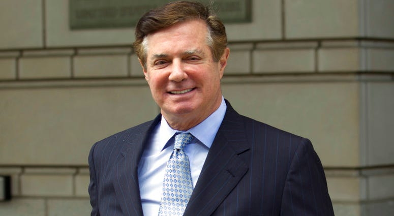 FILE - In this May 23, 2018, file photo, Paul Manafort, President Donald Trump's former campaign chairman, leaves the Federal District Court after a hearing, in Washington.