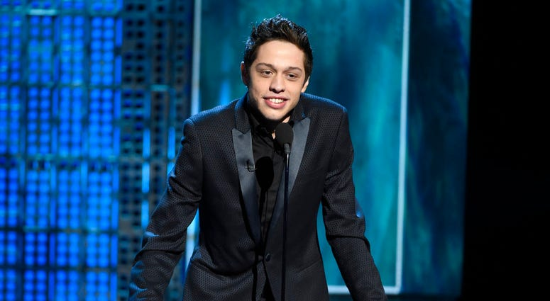 Pete Davidson speaks at a Comedy Central Roast.