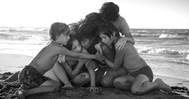"Yalitza Aparicio, center, in a scene from the film ""Roma,"" by filmmaker Alfonso Cuaron. On The film was nominated for a Golden Globe award for best foreign language film."