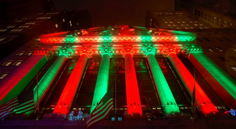 The exterior of the New York Stock Exchange.