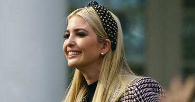 FILE - In this Nov. 20, 2018, file photo, Ivanka Trump, the daughter of President Donald Trump, arrives for a ceremony to pardon the National Thanksgiving Turkey in the Rose Garden of the White House in Washington.