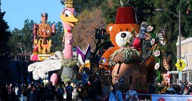Floats at the 130th Rose Parade