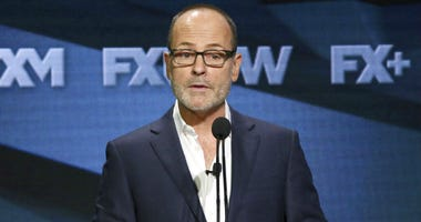 FILE - In this Aug. 3, 2018 file photo, John Landgraf, CEO, FX Networks and FX Productions, participates in the executive panel during the FX Television Critics Association Summer Press Tour in Beverly Hills, Calif.