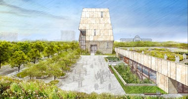 A rendering of the Obama Presidential Center in Chicago