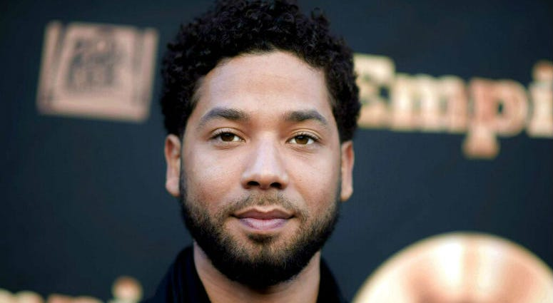 """FILE - In this May 20, 2016 file photo, actor and singer Jussie Smollett attends the """"Empire"""" FYC Event in Los Angeles."""
