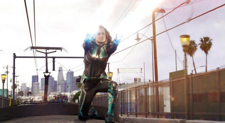 "A scene from ""Captain Marvel."""