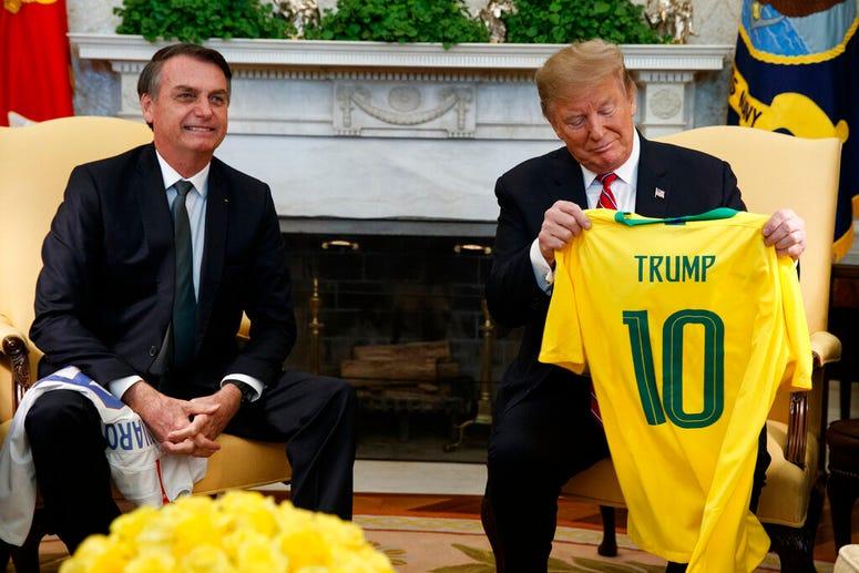 Brazilian President Jair Bolsonaro and President Donald Trump