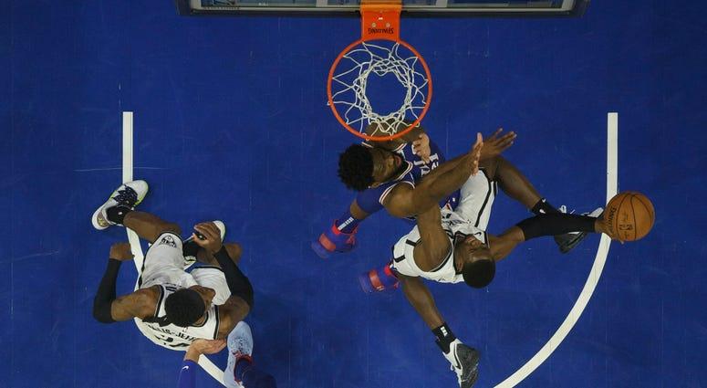 Brooklyn Nets against Philadelphia 76ers