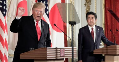 President Donald Trump and Japanese Prime Minister Shinzo Abe