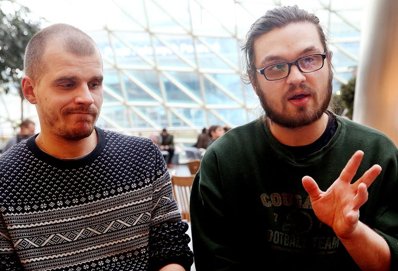 Adam Bialiatski and Mikita Valadzko