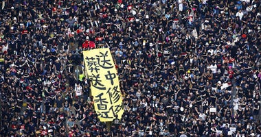 Hong Kong residents Sunday continued their massive protest over an unpopular extradition bill that has highlighted the territory's apprehension about relations with mainland China.