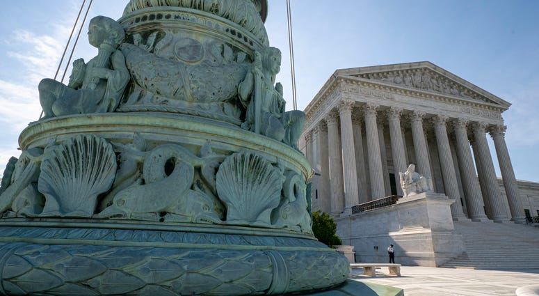 The Supreme Court is seen in Washington, Monday, June 17, 2019.